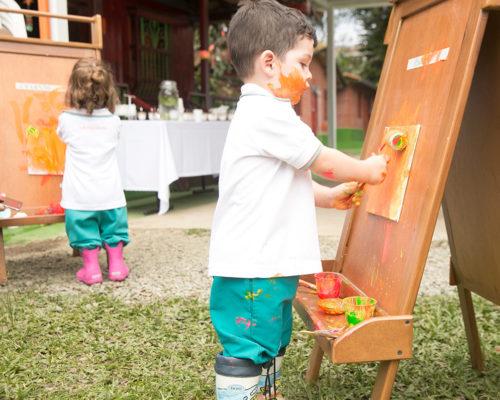 Caminadores pintando